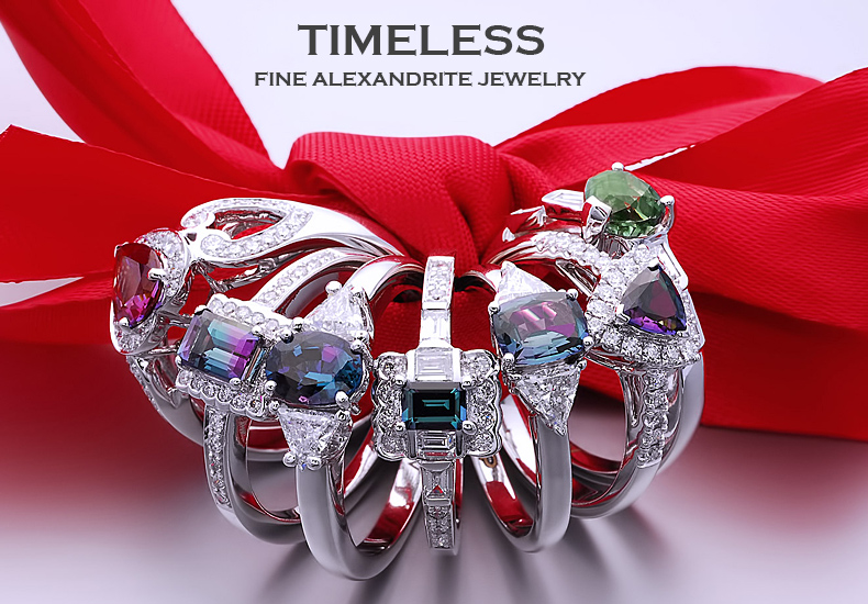 Timeless alexandrite jewelry