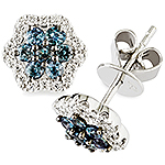 Alexandrite, white diamond and white gold earrings.