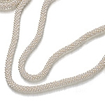 Hand woven white seed pearl serpent opera necklace