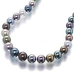Tahitian black pearl single strand choker