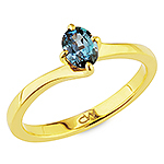 Alexandrite and yellow gold ring.