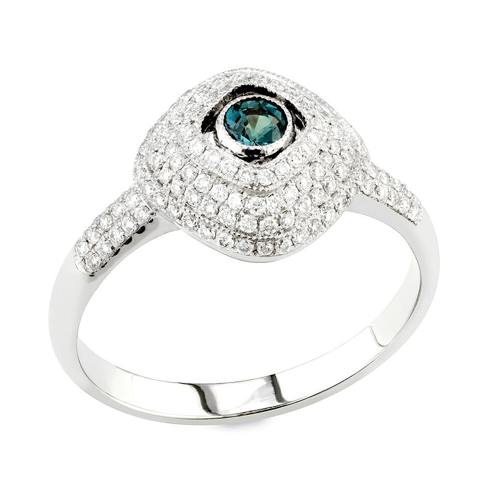 olga alexandrite white and white gold ring