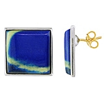 Blue lapis silver earrings