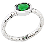 Chrome tourmaline and white gold ring.