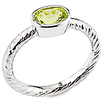 Chrysoberyl and white gold ring.