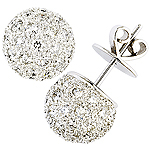 Diamond and white gold earrings.