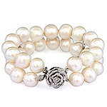 Fresh water pearl and silver bracelet