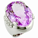 Kunzite white gold ring.
