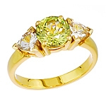 Mali garnet and white danburite gold ring.