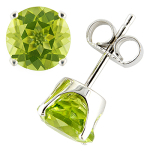 Peridot  and white gold earrings