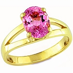Pink tourmaline gold ring.