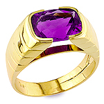 Purple amethyst gold ring.