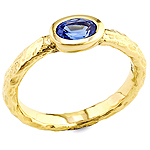 Sapphire and yellow gold ring.