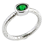 Tsavorite and white gold ring.