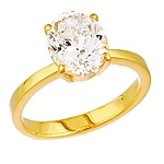 White danburite gold ring.