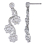 White diamond platinum earrings